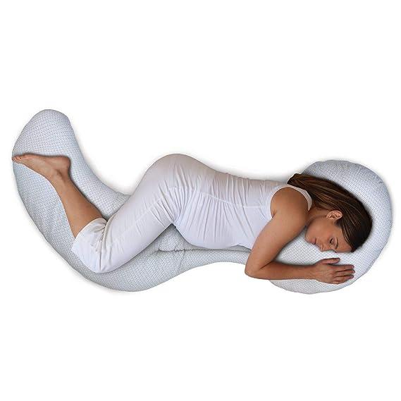 Chicco Boppy- Cojín de embarazo modular 3 piezas de algodón, máxima adaptabilidad, color blanco estampado (Geo) - Almohada de embarazo