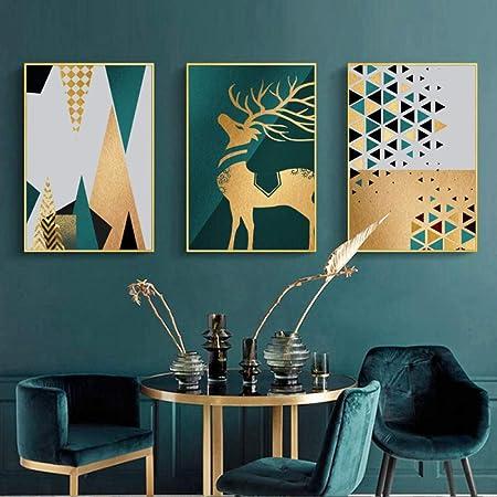 Swallow Affiche Nordique Abstrait Deer Toile Sur Toile Art