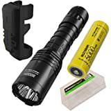 NITECORE i4000R 4400 Lumen USB-C Rechargeable Long-Throw Tactical Flashlight with 5000mAh Battery and EdisonBright…