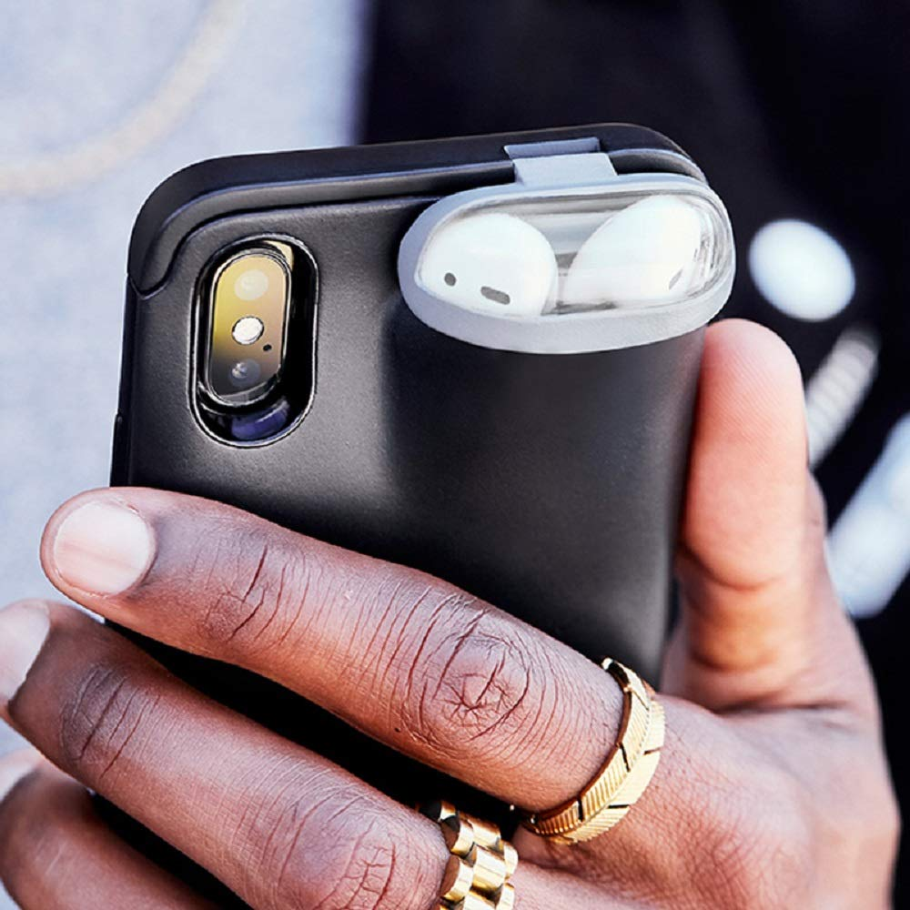For iPhone XS Max 6.5inch, Black DAYA 2 in 1 for Iphone/&Airpods case,Slim Rubber Anti-Scratch Skin Protective Bumper Cover