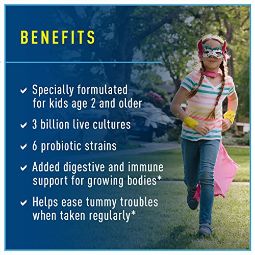 Ultimate Flora Kids Probiotic Supplement, Chewable Tablets Berry 30 ea by Renew Life (Image #2)