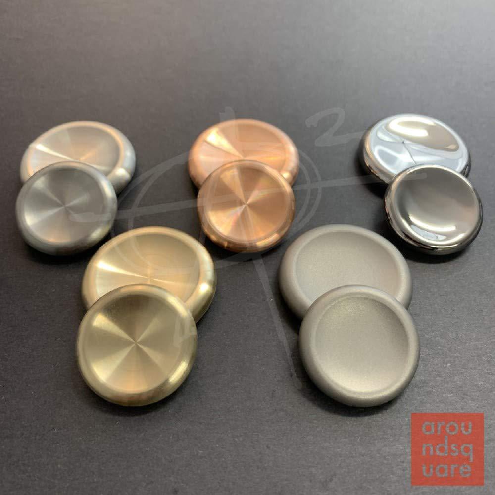AroundSquare Regular Deadeye Contact Coins- Currency Manipulation, Worry Stone -Large (Titanium Sandblast)