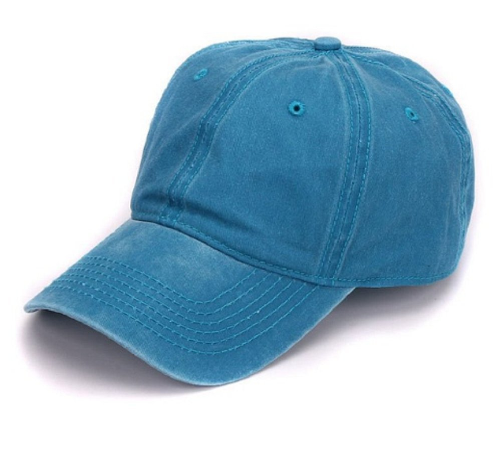 6c80bd6688a11a Buy Plain dyed sand washed 100% soft cotton cap blank baseball caps (blue)  Online at Low Prices in India - Amazon.in