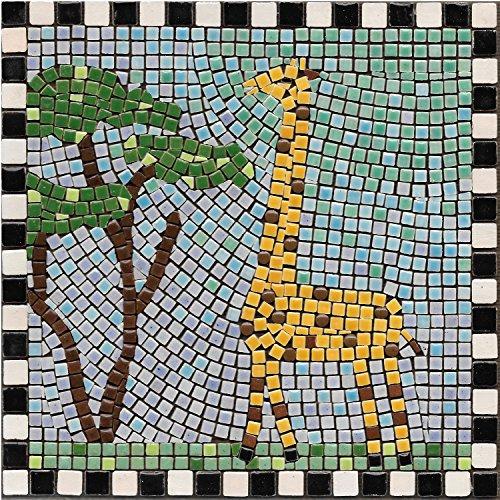 """DIY Mosaic Art Kit 7"""" Square, 20x20cm, Giraffe"""