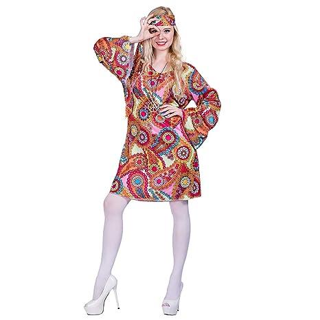 EraSpooky Disfraz de Hippie de los Años 60 para Mujer Disfraz de ...