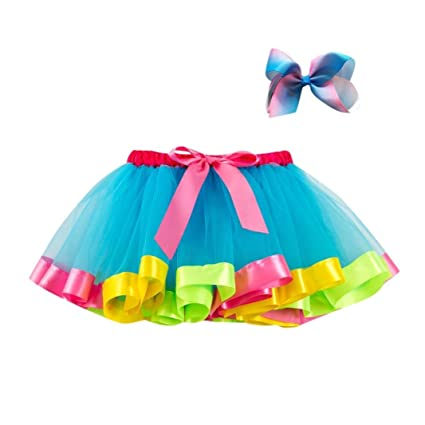 fbc650869 Amazon.com  Anxinke Little Girls Tulle Dancewear Layered Rainbow ...