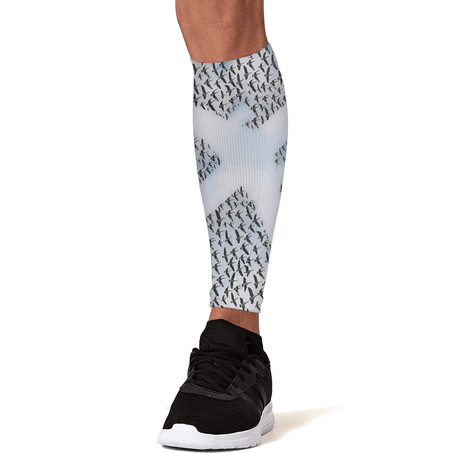 Smilelolly Airplane in The Sky with Doves Bird Calf Compression Sleeves Helps Pain Relief Leg Sleeves for Men Women