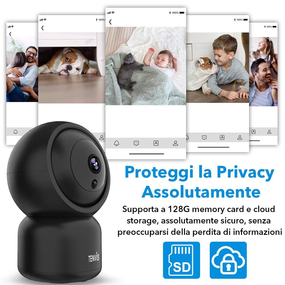 C/ámara Wi-Fi de Seguridad Funcion con Alexa Audio Bidireccional C/ámara de Vigilancia TENVIS C/ámara IP 1080P Detecci/ón de Movimiento,Alarma Remota,Ideal para Hogar//Beb/é//Mascota Versi/ón Nocturna