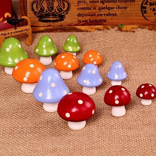 12 Pieces Wooden Mushroom Fridge Magnet Sticker baby LEARNING EDUCATIONAL TOYS