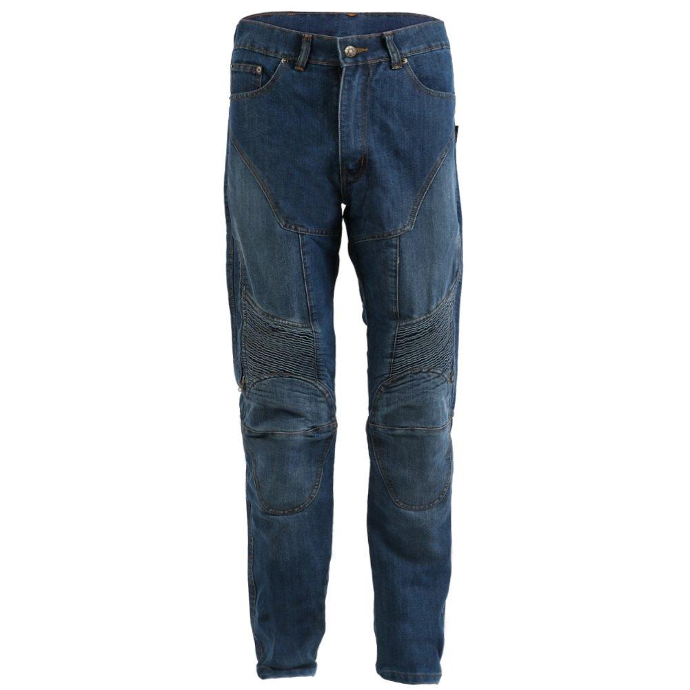 Blue Washed Kevlar-verst/ärkt Herren Motorradhose im Cargo-Jeans-Design Gr/ö/ße W32 L29 Texpeed