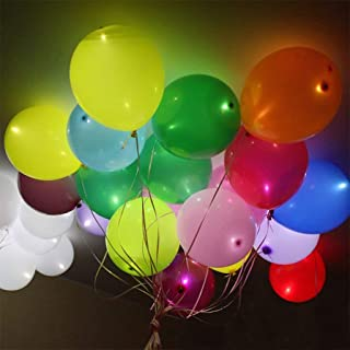 DreamJ 30 Pack LED Light Up Balloons, Flashing Party Balloons Glowing Balloons Premium Mixed-Colors Ideal for Parties, Birthdays and Wedding Decorations, Festival Club Bar Concert