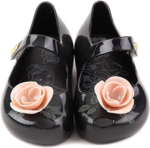 New Mini Melissa Beauty and the beast Jelly Shoes Jelly Sandals Girls Princess