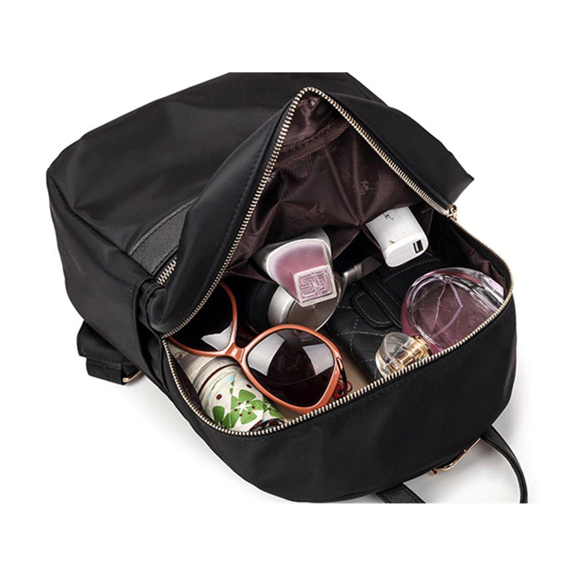 cab90f1203214 OURBAG Damen Groß Modisch Rucksack Persönlichkeit Umhängetasche Schultasche  mit Gute Qualität Nylon Lila  Amazon.de  Koffer