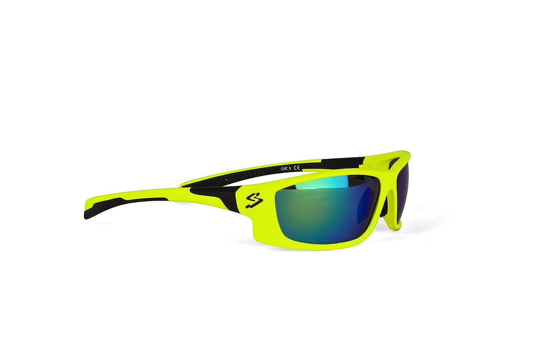Spiuk Spicy - Gafas de Ciclismo Unisex, Color Amarillo Mate/Negro Spiuk Sportline