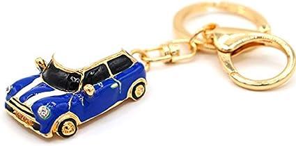Mini estilo llavero de coche, regalo, azul/rojo, brillantes ...
