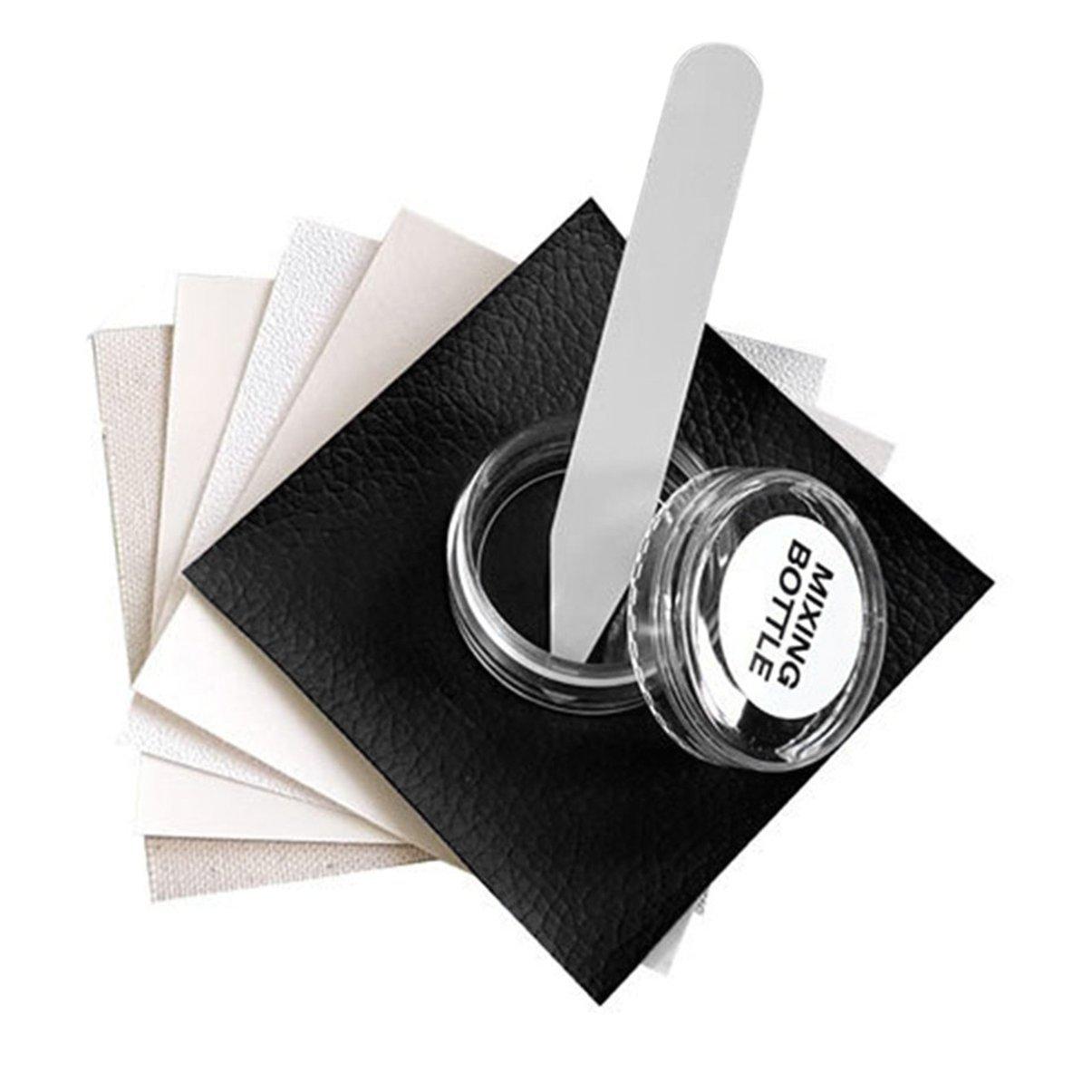 Kit di riparazione in pelle, kit di riparazione del vinile in pelle fluida senza calore, graffi in pelle autoadesiva Set di strumenti di riparazione per divano, mobili, auto, divano, bagagli JullyelegantIT