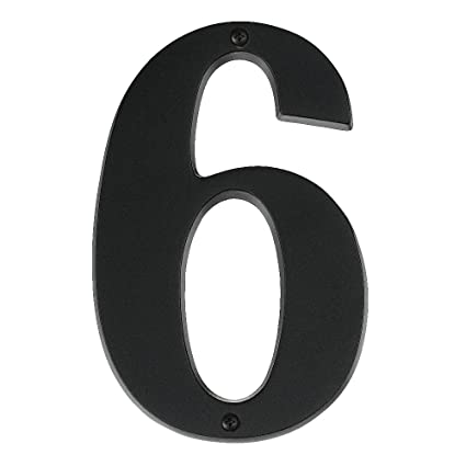 Alno ap6 7 mb transitional house numbers 7 matte black