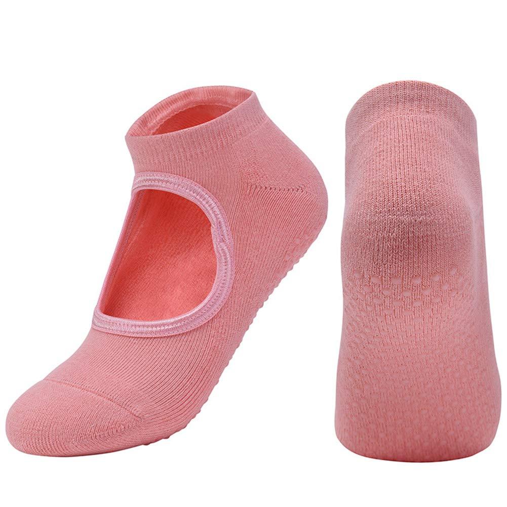CXJUN Calze yoga Calze antiscivolo con impugnature Pilates Calze Baller Barre per donna Calze da allenamento a piedi nudi Calze antiscivolo