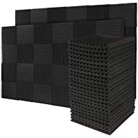 50 Pack Acoustic Panels Soundproof Foam for Walls Sound Absorbing Panels Soundproofing Panels Wedge for Home Studio…