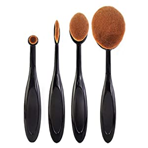 Internet 4pcs / set Toothbrush Fondation Shape Sourcils Maquillage Kits Pinceau Poudre Pinceau