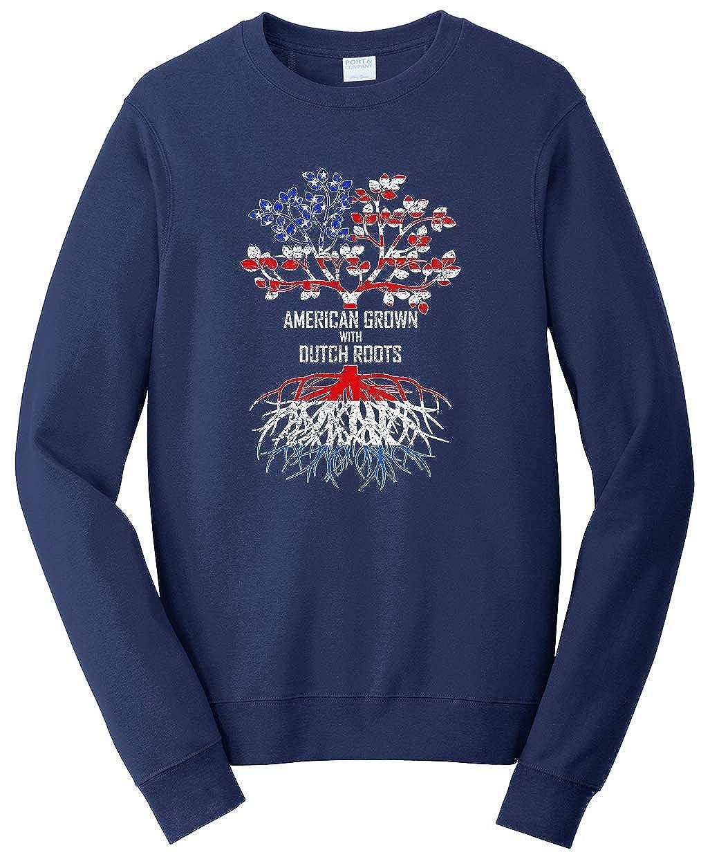 Netherlands Sweatshirt Tenacitee Unisex American Grown with Dutch Roots