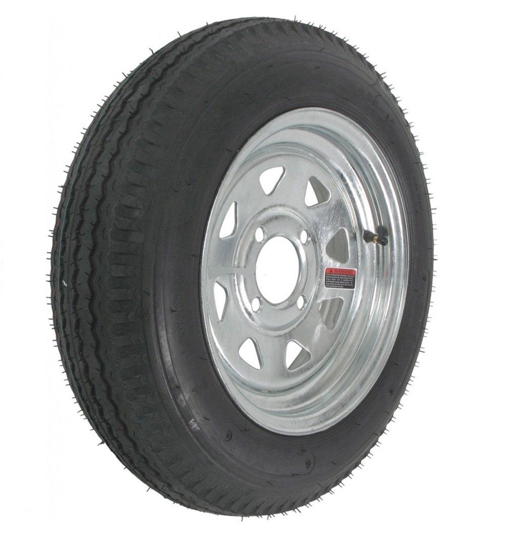2-Pk Radial Trailer Tire & Rim ST175/80R13 Load C 4 Lug Galvanized Spoke 57879
