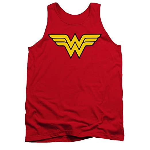 97b167f08fcdc Amazon.com  DC Comics Wonder Woman Logo Adult Tank Top Shirt  Clothing