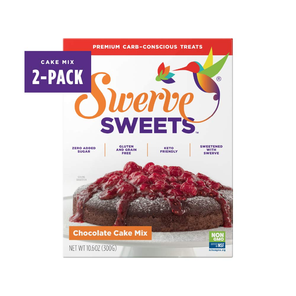 Swerve Sweets, Chocolate Cake Mix, 10.6 ounces (Pack of 2)