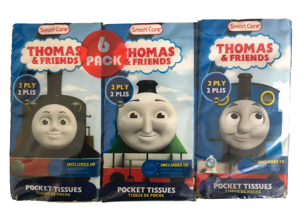 Thomas & Friends 2 Ply Pocket Tissues 6 Pack for Kids