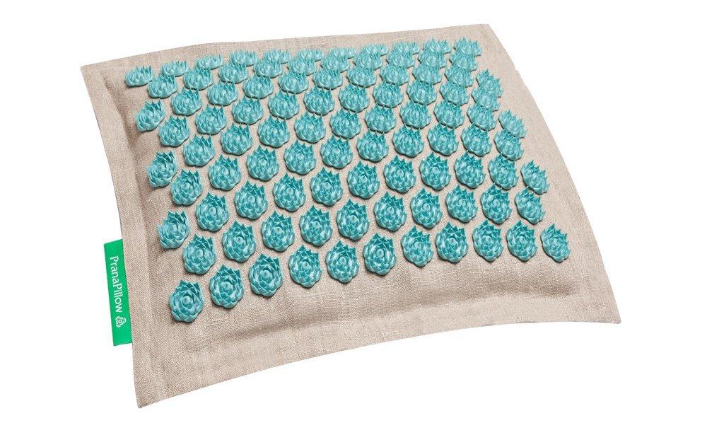 PranaPillow Massage / Acupressure Pillow - Natural / Turquise