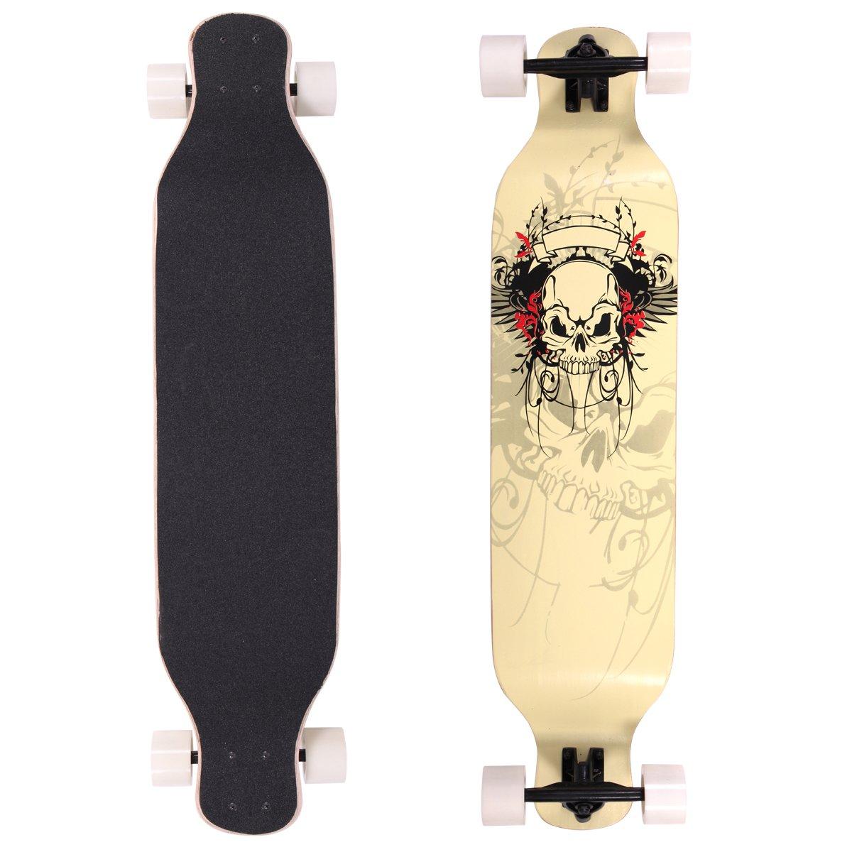 LAZYMOON Maple Complete Longboard Skateboard, 41-Inch