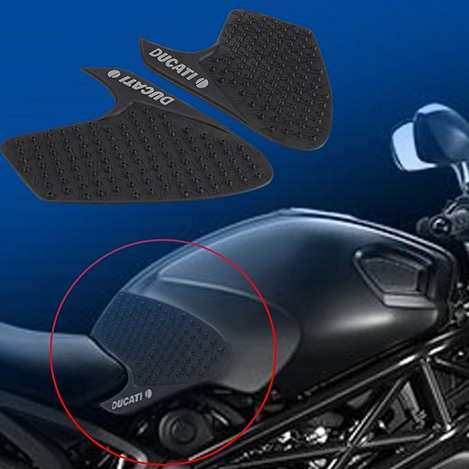 ZHANGAIGUO Areyourshop Serbatoio Traction Pad Lato Gas Ginocchio Grip Protector Forma for Kawasaki ZX6R Z1000 Misura for Il CBR600RR CBR1000RR Forma for Yamaha R1 R6 Color : Clear