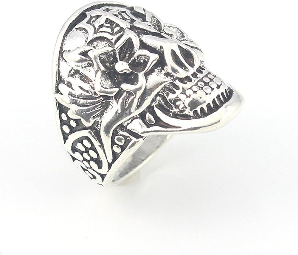 silverjewelgems Skull Plain Fashion Jewelry .925 Silver Plated Ring 9 S23451