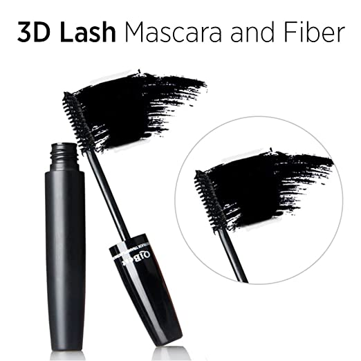 Amazon.com : 3D Mascara and Fiber - Highest Quality Natural & Non-Toxic Hypoallergenic Ingredients - Build Rich and Thick Eyelash, Waterproof : Beauty