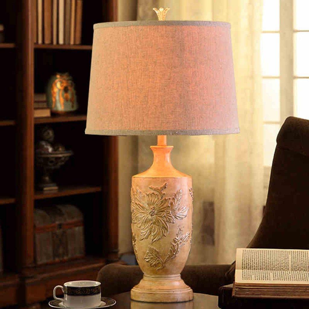 Hanlon E27-Schraubsockel, Tischlampe Kreative American Bedroom Bedside Lampe Villa Hotel Restaurant Lichter ( farbe : Dimmschalter )