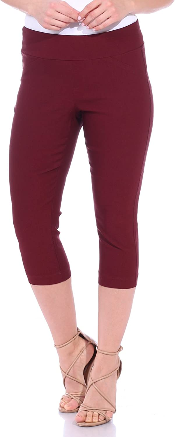 One5One Women's Shaping Stretch Pull On Dress Capri Pants Miracle Ab Shaper
