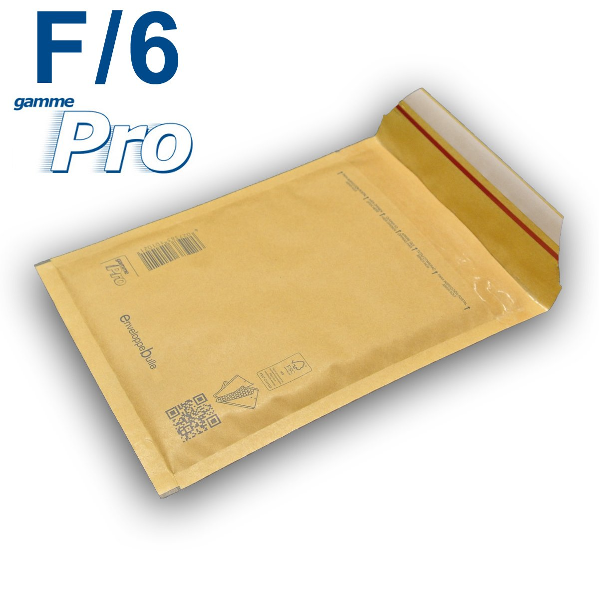 Lot de 400 enveloppes à bulles *MARRON* gamme PRO F/6 format 210x335mm enveloppebulle