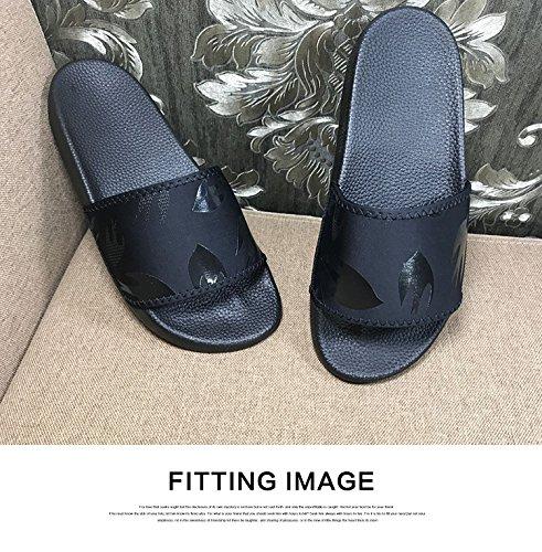 Xing Lin Sandalias De Hombre Pareja De Verano Zapatillas Palabra Dama Masculina Sandalias Interior Y Exterior Pequeña Abeja Imprimir Home Tide Marca Calzado De Playa, 39, Golondrina Negra