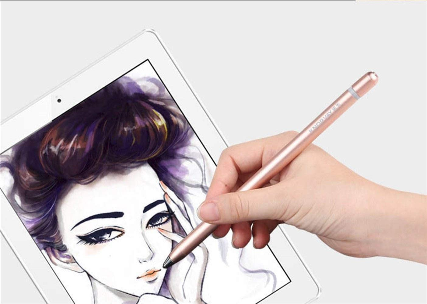 Color : White High Precision Ultra-fine Head Active Touch Screen Capacitive Pen 4 Colors Universal Mobile Phone Flat Touch Stylus