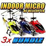 Syma S107 3.5CH RC Helicopter 3-Pack Bundle Deal