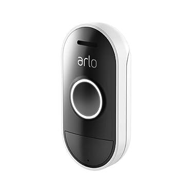 Arlo Audio Doorbell - Wire-free, Smart Home Security, Weather-resistant, Works with Amazon Alexa (AAD1001)