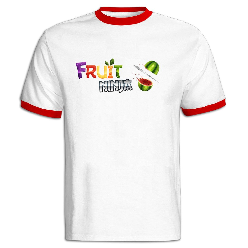 Amazon.com: FENGTING Mens Fruit Ninja Game Logo Hit Color T ...