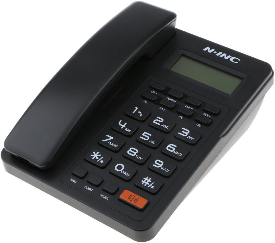 Schwarz kokiya Schnurgebundenes Telefon Home Office FSK//DTMF LCD Anzeige REDLAL Leitungstelefon