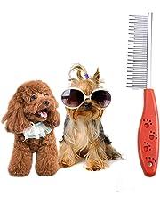 Fernando S.L Pin de Acero Inoxidable para Mascotas Perro Pelo pulga Peine Broche Gato derramamiento Limpieza