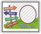 1/2 Sheet - Happy Retirement - Cake Photo Frame - Edible Cake/Cupcake Topper!!!