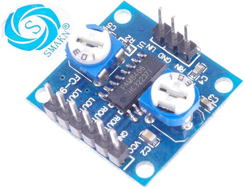 2PCS E27 PAM8406 digital power amplifier board with volume potentiometer