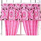 PiNk Brown PONY HORSE BANDANA Equestrian Window Treatment 16''w x 84''l VALANCE (ONLY)