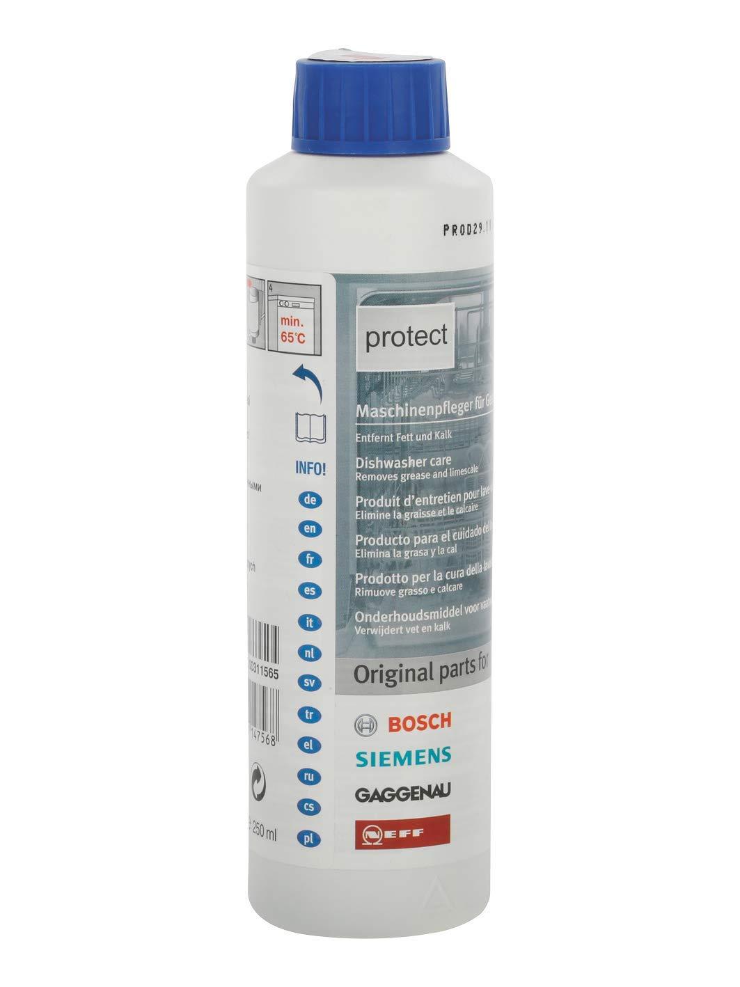 Bosch lavavajillas botella de cuidado 250 ml: Amazon.es: Hogar