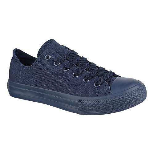 Elara - Zapatillas deportivas unisex, calzado deportivo cómodo para hombre y mujer, material textil, 36-46, color Azul, talla 46 EU
