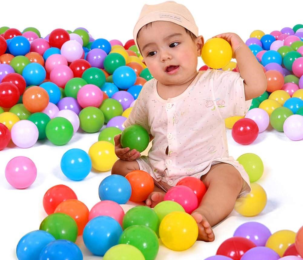 200 St/ück B/ällebad B/älle Pitball Plastik Ozean Ball Baby Wasserbecken Ball Spielzeug f/ür Babys